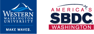 Western logo with waves and SBDC logo