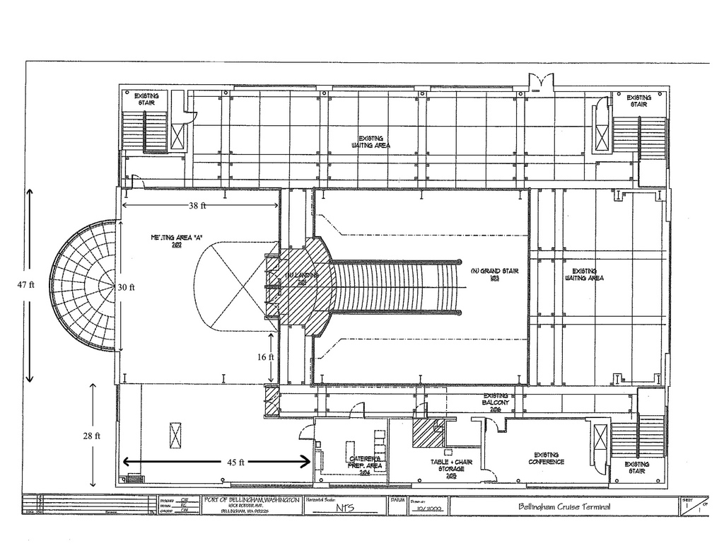 Bellingham Cruise Terminal Floor Plan