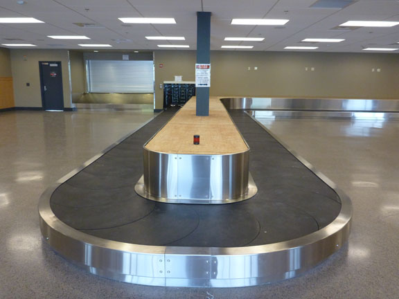 New baggage claim at the Bellingham Airport